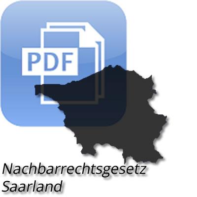 PDF Saarländisches Nachbarrechtsgesetz